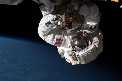 Astronaut in Space - Free Stock Photo