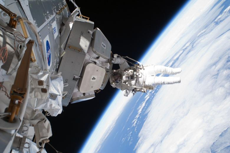 Astronaut in Space Free Photo