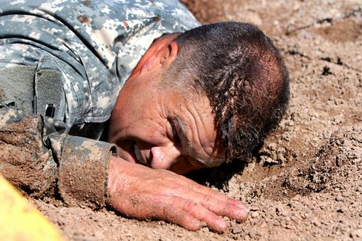 Soldier in the Mud - Free Stock Photo