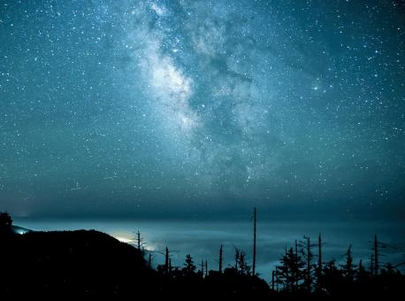 Clear Blue Night Sky - Free Stock Photo