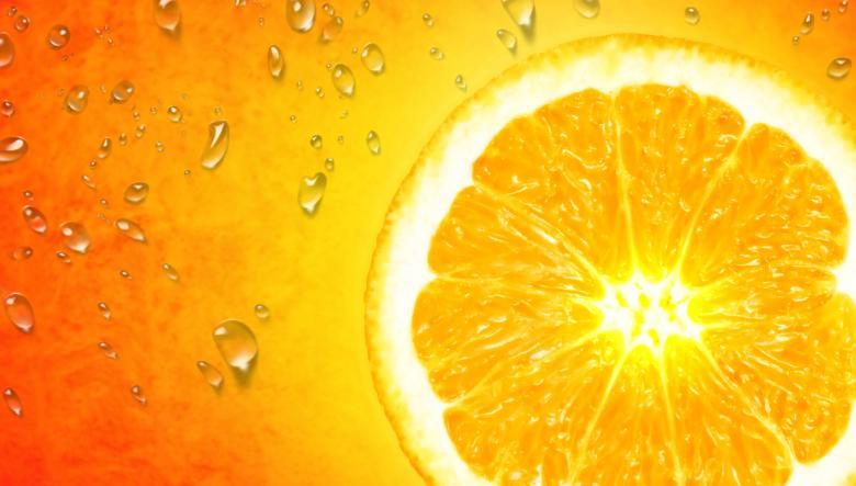 Orange Slice on Orange Background Free Stock Photo by Jack Moreh