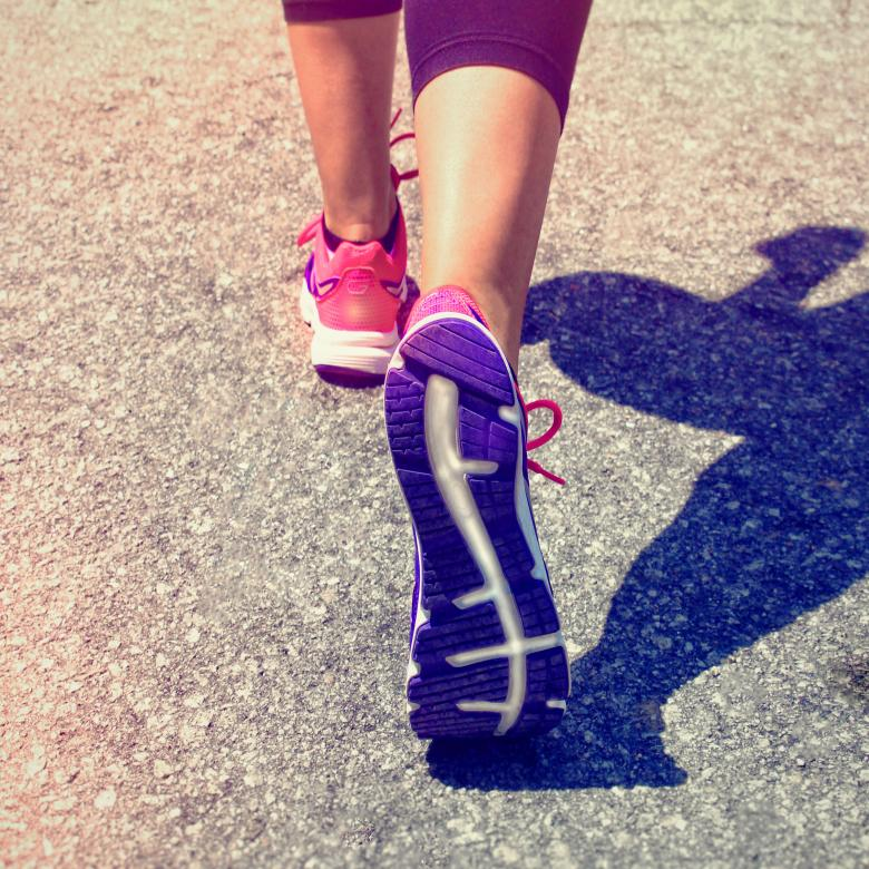 Free Stock Photo of Female Runner Feet - Women Fitness Created by Jack Moreh
