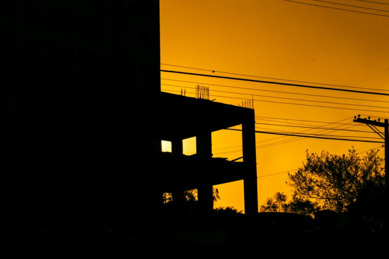 Free Stock Photo of Yellow Sunset Created by Allan Pinheiro de Lima