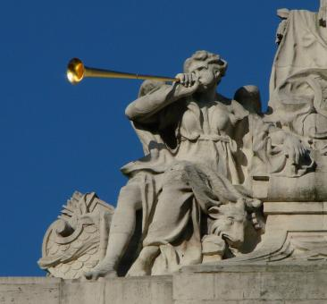 Blowing the Trumpet - Free Stock Photo