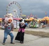 Free Photo - Costumed Pig and Cow