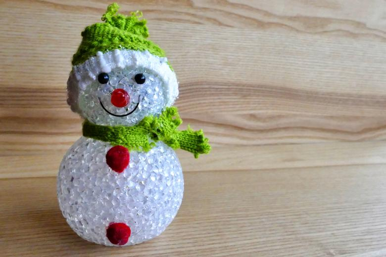 Snowman Ornament in Green Free Photo