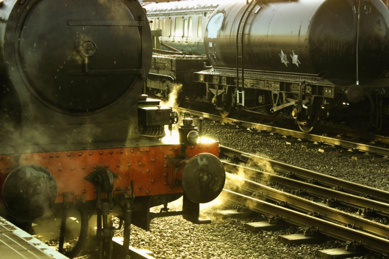 The Front Of A Vintage Steam Train