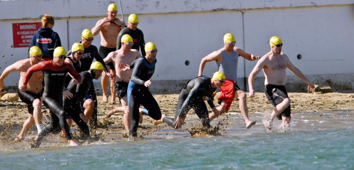 Triathlon Competition - Free Stock Photo