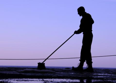 Sailor Sweeping - Free Stock Photo