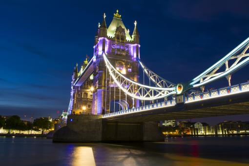 Tower Bridge at Night - Free Stock Photo