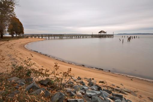 Leesylvania Beach Pier - Free Stock Photo