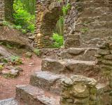 Free Photo - Close-up Castle Staircase Ruins - HDR