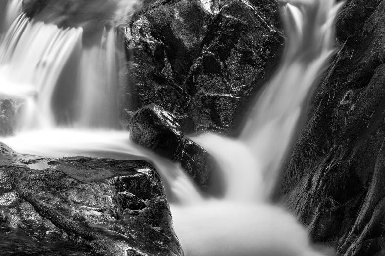 Free Stock Photo of Shelving Rock Stream - Black & White HDR Created by Nicolas Raymond