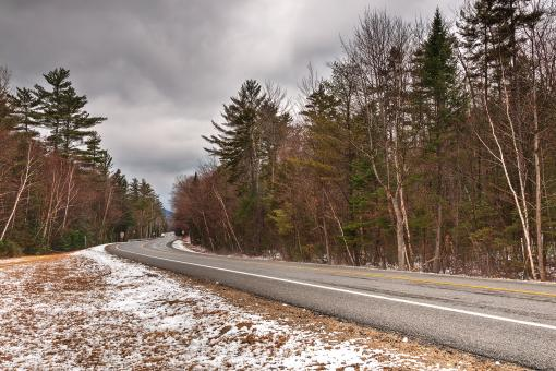 White Mountain Winter Road - HDR - Free Stock Photo