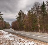 Free Photo - White Mountain Winter Road - HDR