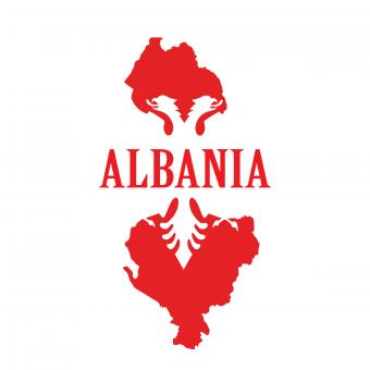 Albania map outline stamp - Free Stock Photo