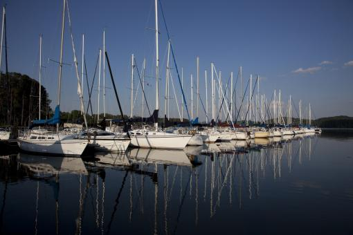 Sailboats in the Lake - Free Stock Photo