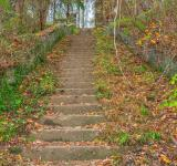 Free Photo - Abandoned Autumn Stairway - HDR