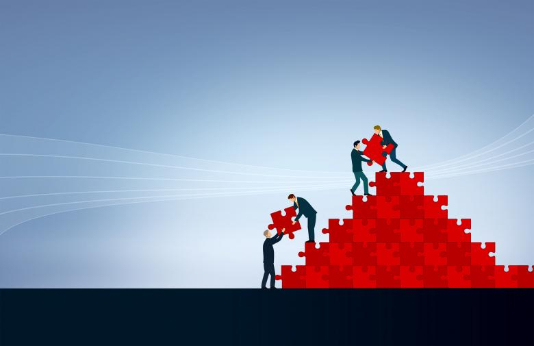 Teamwork - Team Building Jigsaw - Free Business Stock Photos