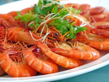 Steamed Prawns - Free Stock Photo