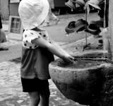 Free Photo - Toddler washing her hands