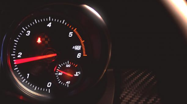 Sports Car Tachometer Speeding - With Copyspace - Free Stock Photo