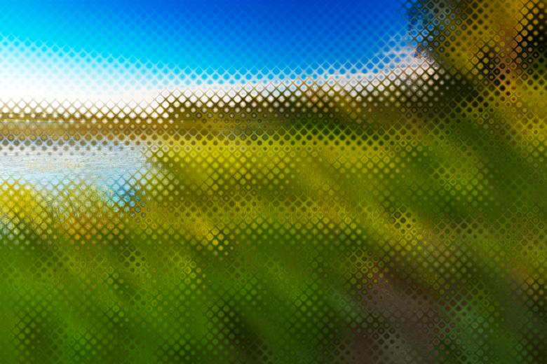 Free Stock Photo of Abstract Pixelscape - Isle La Motte Created by Nicolas Raymond