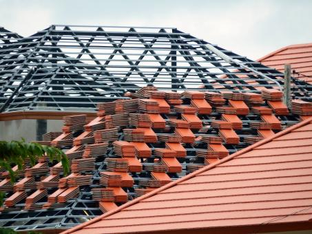 Roof of House Under Construction - Free Stock Photo