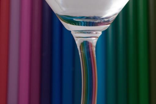 Glass and Colored Pencils - Free Stock Photo
