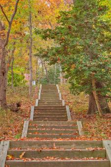 Autumn Leesylvania Stairway - HDR - Free Stock Photo