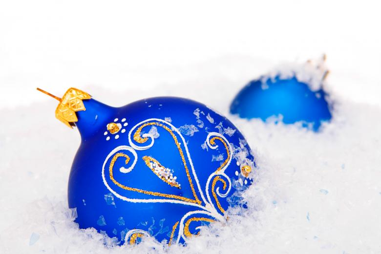 Blue Christmas Bauble - Free Christmas Stock Photos