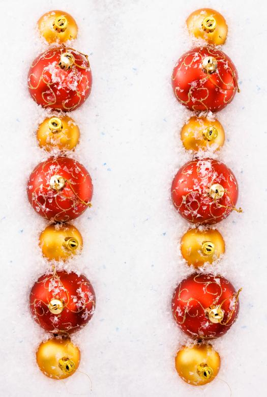 Rows of Red and Golden Christmas Balls - Free Christmas Stock Photos