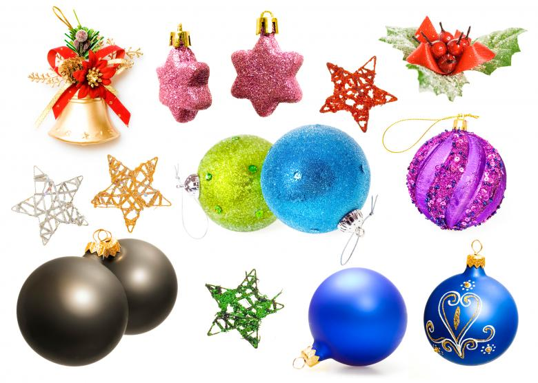 Isolated Christmas Decorations - Free Christmas Stock Photos