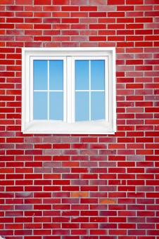 Red Brick Wall with Window - Free Stock Photo