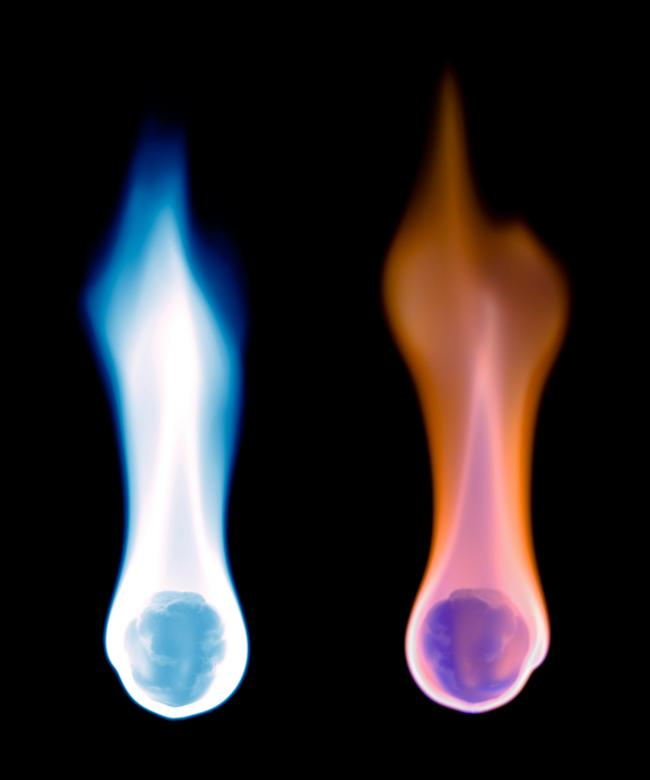 Free Stock Photo of Blue and orange flames Created by 2happy