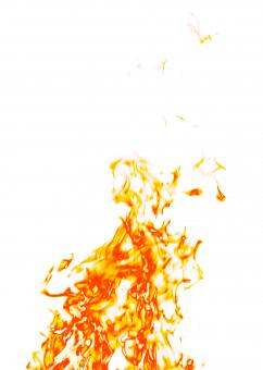 Fire on White - Free Stock Photo