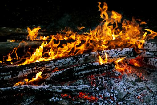 Burning Wood - Free Stock Photo