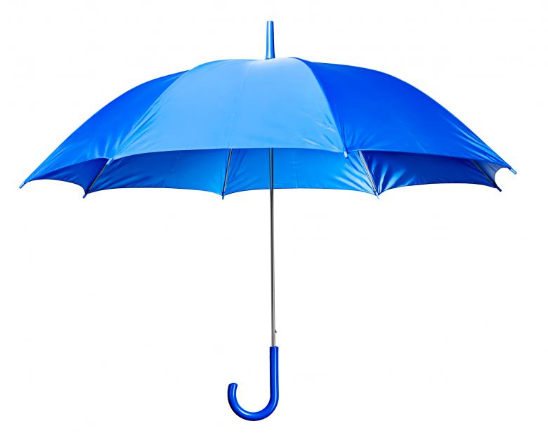 Free Stock Photo of Light Blue Open Umbrella Created by 2happy