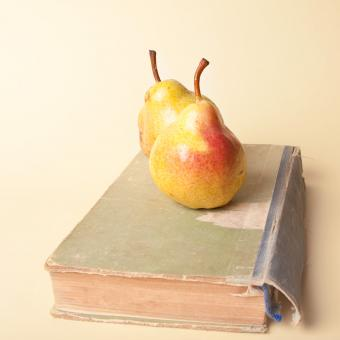 book and pears - Free Stock Photo