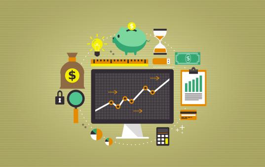 Financial Operations and On-Line Banking Illustration - Free Stock Photo