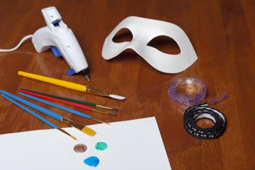 Creating a Mask for Carnival - Free Stock Photo