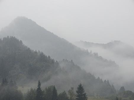 Mountains in the fog - Free Stock Photo