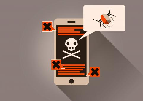 Infected Smartphone - On-Line Security Threat - Free Stock Photo