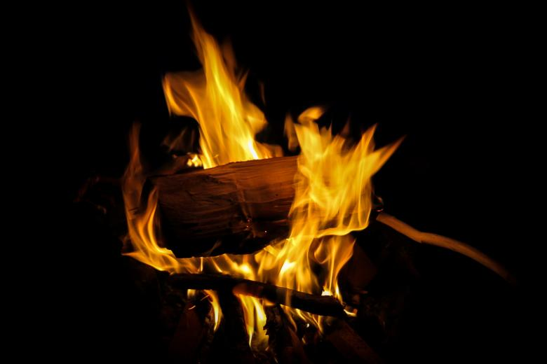 Free Stock Photo of Fire on Black Background Created by invisiblepower