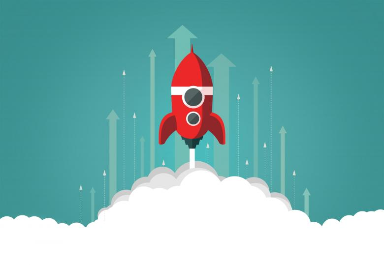 Free Stock Photo of Fast Growing Business with Rocket Launch Created by Jack Moreh