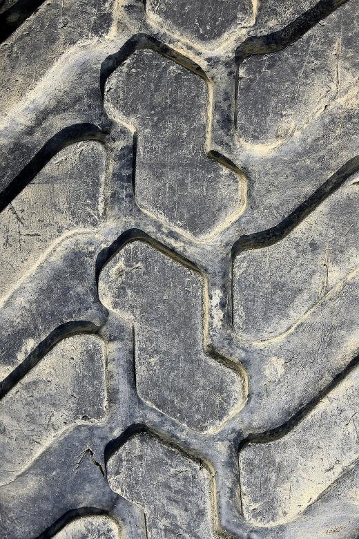 Free Stock Photo of Old Tyre Texture Created by Pixabay
