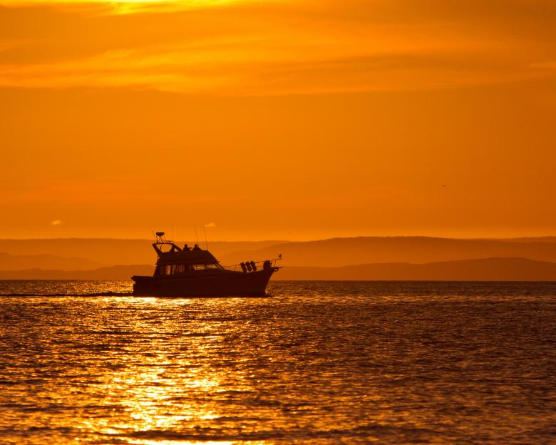 Free Stock Photo of Boat at sunset Created by Geoffrey Whiteway