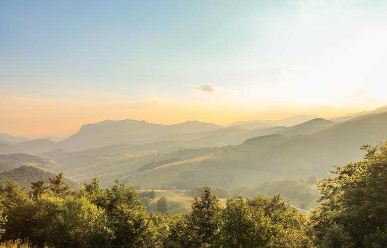 Free Stock Photo of Sunrise in the Mountains Created by invisiblepower