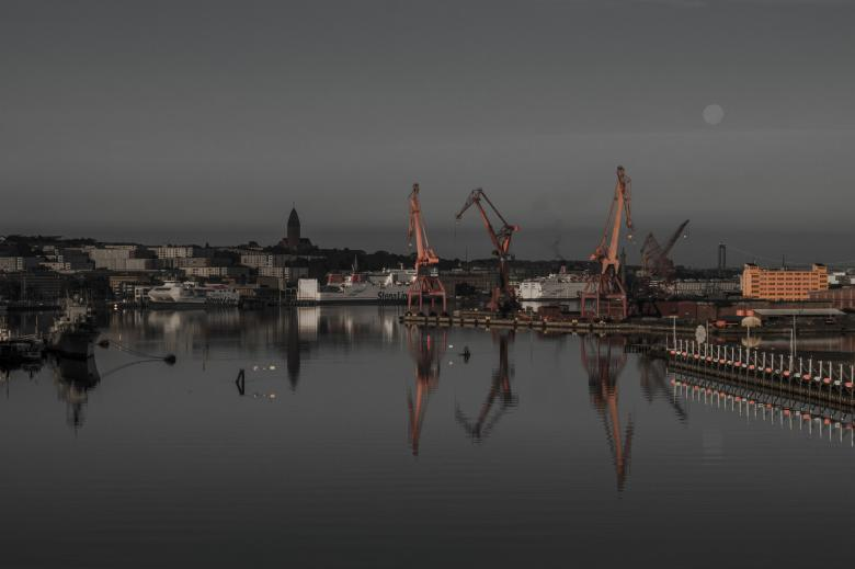 Harbour at Night Free Photo