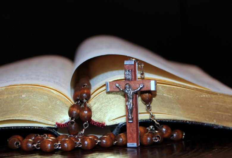 Cross and String of Beads - Free Religion Stock Photos